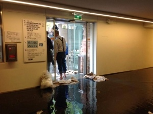 photo of flooding at zeeuws museum in Middelburg